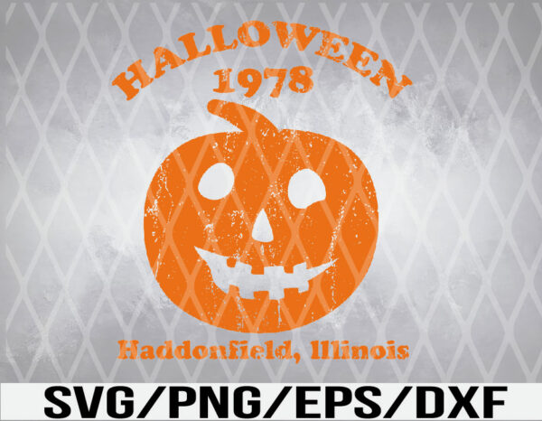 WTM 01 Vectorency Halloween 1978 Holiday Spooky Gift Myers Pumpkin Haddonfield SVG, EPS, PNG, DXF, Digital Download