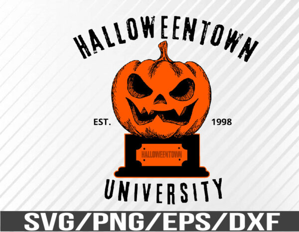 WTM 01 61 Vectorency Halloween Town University, Halloween, Sublimation, SVG, EPS, PNG, DXF, Digital Download