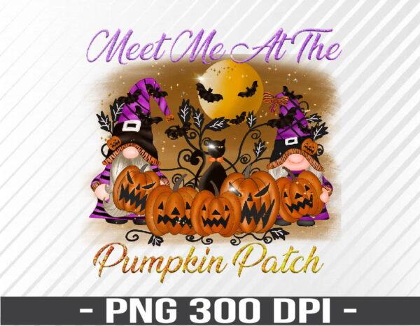 WTM 01 66 Vectorency Gnome Pumpkin Patch Halloween Gnomie PNG, Digital Download