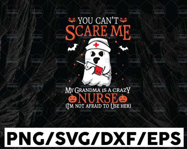 WTMETSY13012021 01 101 Vectorency Halloween SVG - You can't scare me my grandma is a crazy