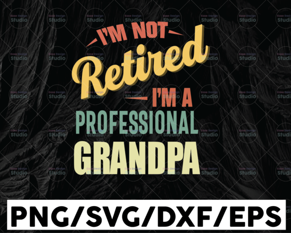 WTMETSY13012021 01 104 Vectorency I'm Not Retired I'm A Professional Grandpa SVG, Funny Retirement Gift, Husband, Dad, Grandpa, Digital Download,Sublimation Cricut SVG & PNG