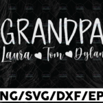 WTMETSY13012021 01 107 Vectorency Personalized Name Grandpa SVG Cut File, Grandma To Be, Promoted to Grandpa, New Grandparents, Digital DOWNLOAD