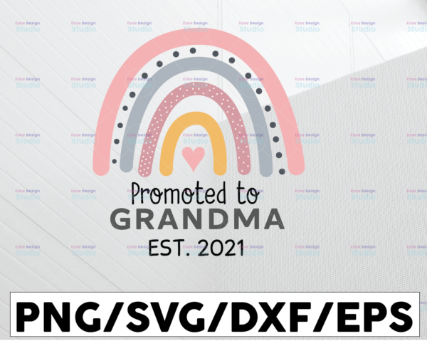 WTMETSY13012021 01 117 Vectorency Promoted to Grandma Svg, Funny grandma svg, Grandfather Shirt Svg, Grandmother Shirt Svg Pdf Png Dxf,grandparents