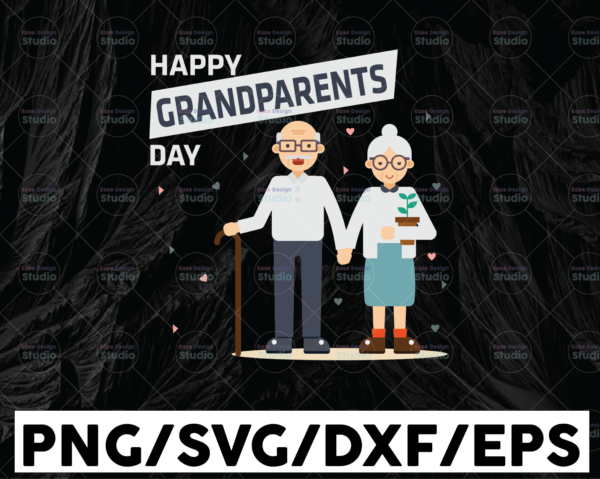 WTMETSY13012021 01 121 Vectorency Happy Grandparents Day SVG, Grandparents Shirt Design, Grandparents Gift, Cricut Cutting File, Clipart Vector, Digital Download