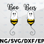 WTMETSY13012021 01 142 Vectorency Halloween SVG / Boo SVG / Ghost SVG / Boo Bees Svg / Funny Halloween svg Svg / Svg Files for Cricut / Silhouette Files