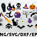 WTMETSY13012021 01 143 Vectorency 21 Halloween Clipart Bundle | Halloween SVG Bundle Cute Halloween Clip Art Svg Halloween Cut File Pack for Silhouette Files for Cricut Bat