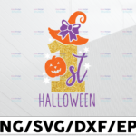 WTMETSY13012021 01 152 Vectorency 1st Halloween Svg My First Halloween png Baby's 1st Halloween png Cutting File Halloween printable Halloween png Halloween Design