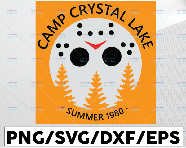 WTMETSY13012021 01 156 Vectorency Camp Crystal Lake SVG, PNG, DXF, Halloween svg, Michael Myers, Adult, Toddler, Instant Download
