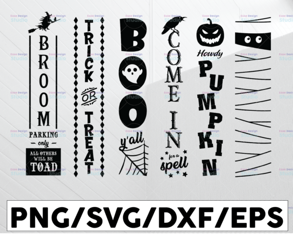 WTMETSY13012021 01 157 Vectorency Halloween porch sign svg bundle Halloween sign bundle Halloween svg bundle Halloween sign svg Halloween vertical sign svg vertical svg eps