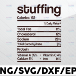 WTMETSY13012021 01 191 Vectorency Stuffing calories 192, total fat 7.1g, cholesterol 0mg, sodium 678 mg, svg, dxf,eps,png, Digital Download Thanksgiving Svg, Thanksgiving svg Svg, Turkey Svg ,Silhouette And Cricut Cut File, turkey svg