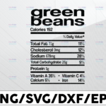 WTMETSY13012021 01 192 Vectorency Green beans calories 192, total fat 7.1g, cholesterol 0mg, sodium 678 mg svg, dxf,eps,png, Digital Download Thanksgiving Svg, Thanksgiving svg Svg, Turkey Svg ,Silhouette And Cricut Cut File, turkey svg