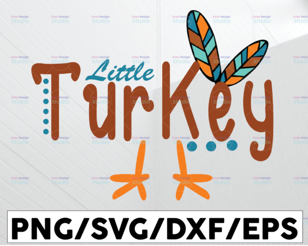WTMETSY13012021 01 199 Vectorency Little turkey svg, dxf,eps,png, Digital Download, Thanksgiving Svg, Thanksgiving svg Svg, Turkey Svg ,Silhouette And Cricut Cut File, turkey svg