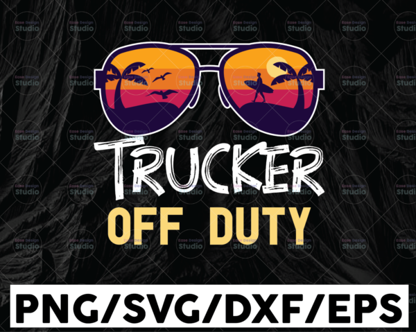 WTMETSY13012021 01 212 Vectorency Trucker Of Duty Sunglasses SVG, Summer time, Truck Lover, Semi truck svg,Trucking Quote svg, File For Cricut, Silhouette