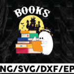 WTMETSY13012021 01 26 Vectorency Halloween Boo Books Svg PNG, Halloween Gift PNG, Sublimation Design Download