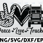 WTMETSY13012021 01 271 Vectorency Peace Love Wrecker, Two Truck Driver svg, Trucker Big Rigg, Tow Truck, Truck Cab, Rollback svg, Cricut svg, Silhouette svg