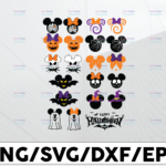 WTMETSY13012021 01 35 Vectorency Halloween svg, Mickey Minnie svg, Bundle svg, Pumpkin svg, Halloween svg , Bat svg, Svg Files for Cricut, cut file, dxf files for laser