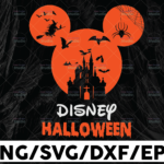 WTMETSY13012021 01 42 Vectorency Disney Halloween png, Halloween Castle png, Mickey Head Bats png, printable, sublimation printing