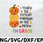 WTMETSY13012021 01 76 Vectorency I teach the cutest pumpking in the patch 5th grade svg, dxf,eps,png, Digital Download
