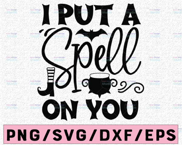 WTMETSY13012021 02 108 Vectorency I put a spell on you SVG Bundle,witches svg, cricut, silhouette, clip art, svg, png, dxf, eps