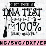 WTMETSY13012021 02 113 Vectorency Just Took A DNA Test SVG, Halloween Vector, Mom Halloween, Dxf Eps Png, Silhouette, Cricut, Cameo, Digital, Sarcastic Svg