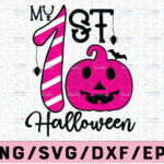 WTMETSY13012021 02 117 Vectorency My First Boo SVG, My 1st Boo SVG, Ghost svg, Boo Svg, Funny halloween SVG - Cutting files for Silhouette & Cricut