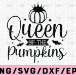 WTMETSY13012021 02 139 Vectorency Queen Of The Pumpkins svg, Pumpkin Patch SVG, svg Files for Cutting Machines Cameo Cricut, Girly, Halloween svg, Fall, Thanksgiving