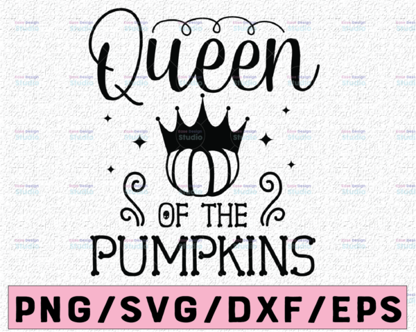 WTMETSY13012021 02 143 Vectorency Queen Of The Pumpkins svg, Pumpkin Patch SVG, svg Files for Cutting Machines Cameo Cricut, Girly, Halloween svg, Fall, Thanksgiving