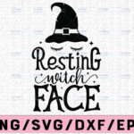 WTMETSY13012021 02 144 Vectorency Resting Witch Face SVG, Hocus Pocus Svg File DXF Silhouette Print Vinyl Cricut Cutting SVG T shirt Design Halloween SVG,Sanderson Sisters