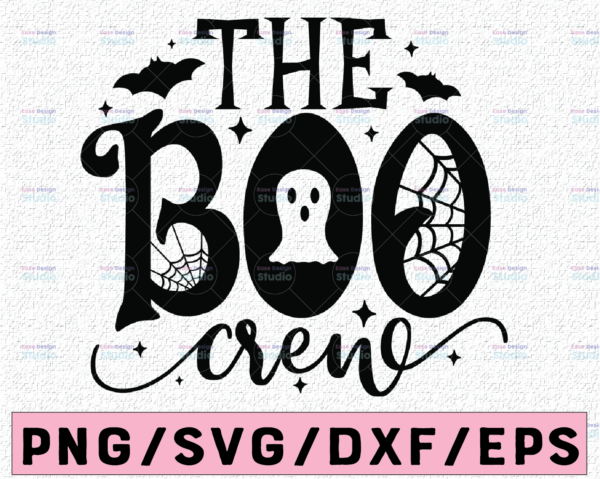 WTMETSY13012021 02 169 Vectorency The Boo Crew Svg, Halloween Svg, Boo Svg, Ghost and Spider Web Svg, Spooky Cut Files, Halloween Shirt Svg,Fall, Silhouette, Cricut