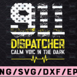 WTMETSY13012021 02 180 Vectorency 911 Dispatcher Calm Voice In The Dark SVG,Emergency svg, America flag svg, png, dxf, eps digital download
