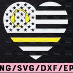 WTMETSY13012021 02 184 Vectorency 911 Dispatcher Thin Gold Line Heart svg, Dispatcher svg png cutting files for silhouette or cricut