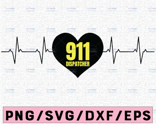 WTMETSY13012021 02 186 Vectorency 911 Dispatcher Heart Beat SVG, heart svg png pdf cutting files for silhouette or cricut