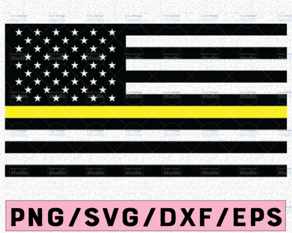 WTMETSY13012021 02 191 Vectorency Dispatcher Yellow Line US Flag, United States of America Flag, Dispatcher Support, Svg, Png, Dxf