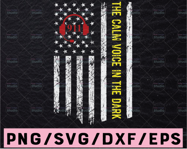 WTMETSY13012021 02 217 Vectorency Dispatcher Thin Yellow & Red Line 911 Emergency svg, png, dxf, eps digital download