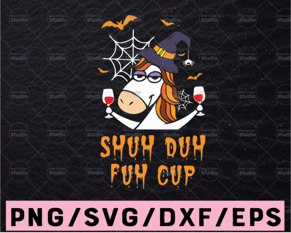 WTMETSY13012021 02 22 Vectorency Shuh duh fuh cup unicorn SVG PNG DXF pdf cut file digital file digital download middle finger unicorn cute funny rainbow svg, dxf,eps,png, Digital Download