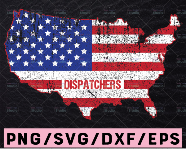 WTMETSY13012021 02 225 Vectorency Dispatchers America Map svg, 911 Dispatchers svg, Dispatcher Svg Design Cricut Printable Cutting File