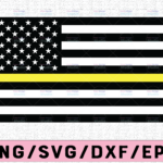 WTMETSY13012021 02 230 Vectorency Dispatcher Yellow Line US Flag, United States of America Flag, Dispatcher Support, Svg , Png , Dxf , AI , Jpeg