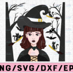 WTMETSY13012021 02 265 Vectorency Witch PNG, Witch Face png, Pretty Witch, Witch Hat png, Happy Halloween png, Funny Halloween Png Files for sublimation