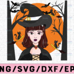 WTMETSY13012021 02 266 Vectorency Witch PNG, Witch Face png, Pretty Witch, Witch Hat png, Happy Halloween png, Funny Halloween Png Files for sublimation