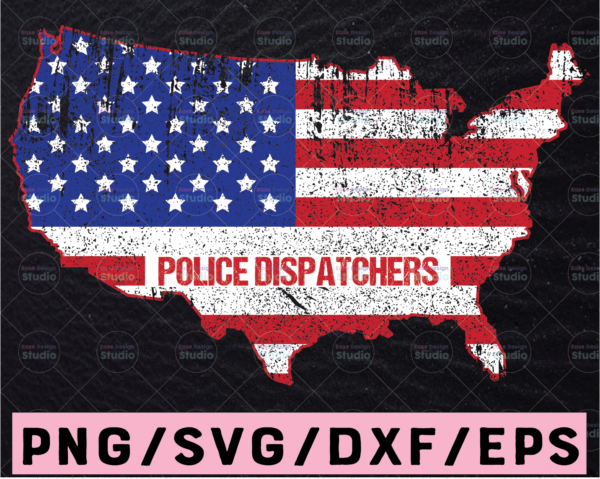 WTMETSY13012021 02 278 Vectorency 911 Dispatcher SVG, Police Dispatchers US map svg, Funny dispatcher svg, 911 dispatcher, png, dxf, eps digital download