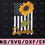 WTMETSY13012021 02 287 Vectorency Thin Yellow Line Dispatch Flag Sunflower , PNG File, Digital Download, Sublimation, First Responder,Black and White