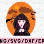 WTMETSY13012021 02 291 Vectorency Witch PNG, Witch Face png, Pretty Witch, Witch Hat png, Happy Halloween png, Funny Halloween Png Files for sublimation