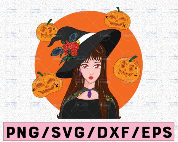 WTMETSY13012021 02 293 Vectorency Witch PNG, Witch Face png, Pretty Witch, Witch Hat png, Happy Halloween png, Funny Halloween Png Files for sublimation
