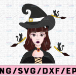 WTMETSY13012021 02 295 Vectorency Witch PNG, Witch Face png, Pretty Witch, Witch Hat png, Happy Halloween png, Funny Halloween Png Files for sublimation