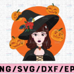 WTMETSY13012021 02 296 Vectorency Witch PNG, Witch Face png, Pretty Witch, Witch Hat png, Happy Halloween png, Funny Halloween Png Files for sublimation
