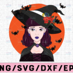 WTMETSY13012021 02 298 Vectorency Witch PNG, Witch Face png, Pretty Witch, Witch Hat png, Happy Halloween png, Funny Halloween Png Files for sublimation
