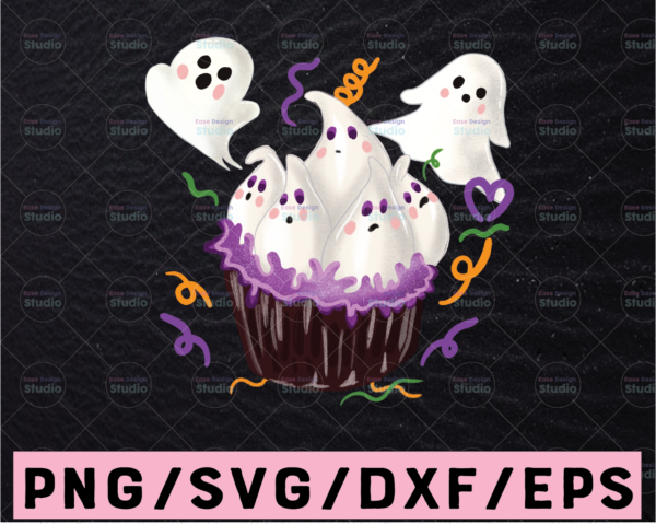 WTMETSY13012021 02 300 Vectorency Cupcake Boo PNG, Halloween Cupcake PNG, Halloween Png, Boo Png, Pumpkin PNG, Hey Boo Png, Sublimation Design, Digital Download
