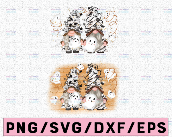 WTMETSY13012021 02 301 Vectorency Ghost Gnome Png design, Ghost clip art, cute characters,Halloween Sublimation Designs, instant download