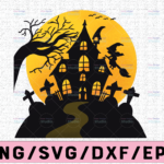 WTMETSY13012021 02 305 Vectorency Pumpkin And Moon Halloween Png, Witch Design Png, Jack O' Lantern Png, Instant Download, Halloween Decor, Digital File