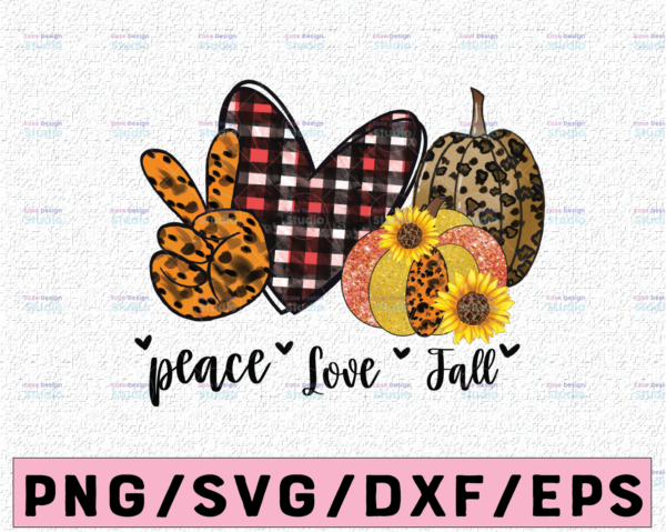 WTMETSY13012021 02 309 Vectorency Peace love fall PNG, Sublimation design, Pumpkin png Instant download, Fall shirt print, Autumn sublimation, Pumpkin png, Leopard print